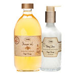 Shower Oil and Body Lotion Ginger Orange