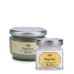Gift Boutique Mango Kiwi Set - Body Scrub & Body Gelèe