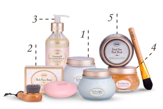 SABON's Fresh & Glow facial care products